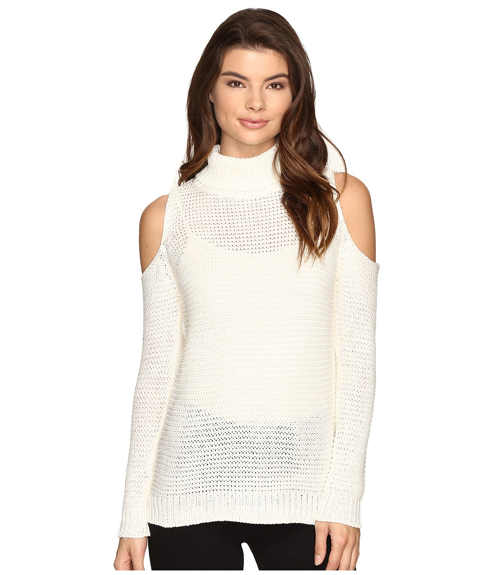 Brigitte Bailey - Caressa Ribbed Cold Shoulder Sweater (Winter White) Women's Sweater
