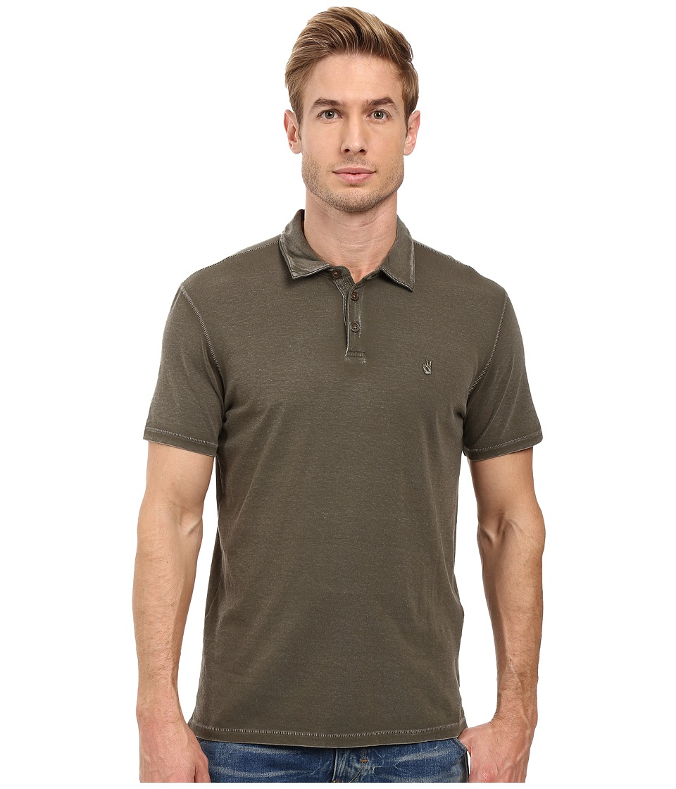 John Varvatos Star U.S.A. - Soft Collar Peace Polo K1381S3B (Split Pea) Men's Clothing