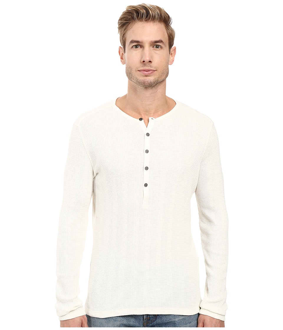 John Varvatos Star U.S.A. - Long Sleeve Button-Front Henley K2319S3B (Ivory) Men's Clothing