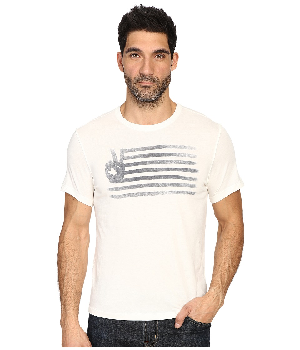 John Varvatos Star U.S.A. - Peace Flag Graphic T-Shirt K2923S3B (Salt) Men's T Shirt