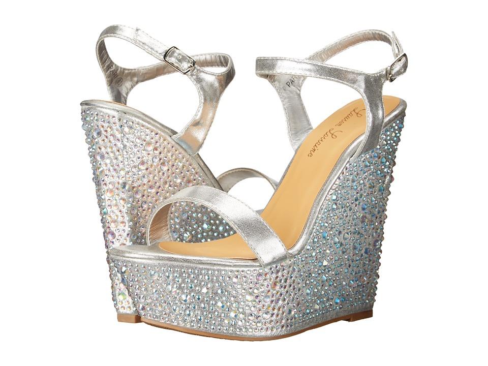 Lauren Lorraine - Pari (Silver) Women's Wedge Shoes