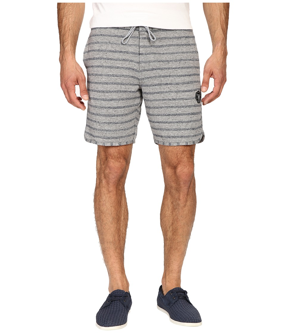 VISSLA - Sofa Surfer Fine Point Fleece Shorts (Grey Heather) Men's Shorts