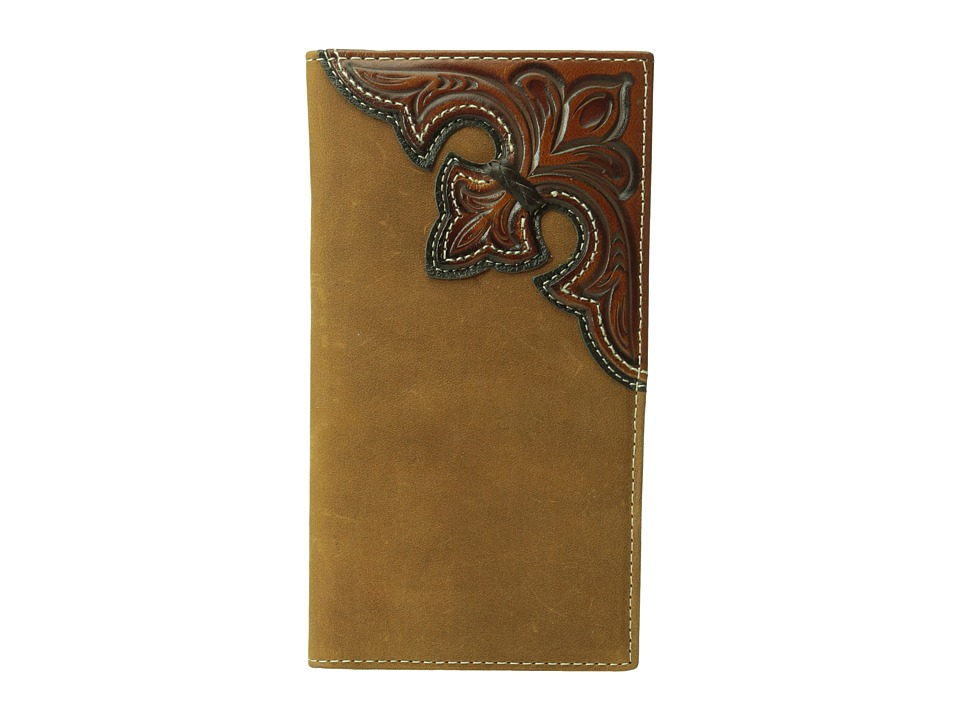 M&F Western - Embossed Corner Rodeo Wallet (Brown) Wallet Handbags