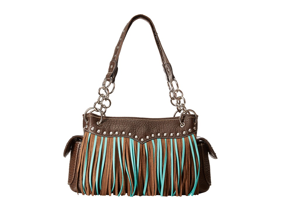M&F Western - Jolie Satchel (Brown) Satchel Handbags