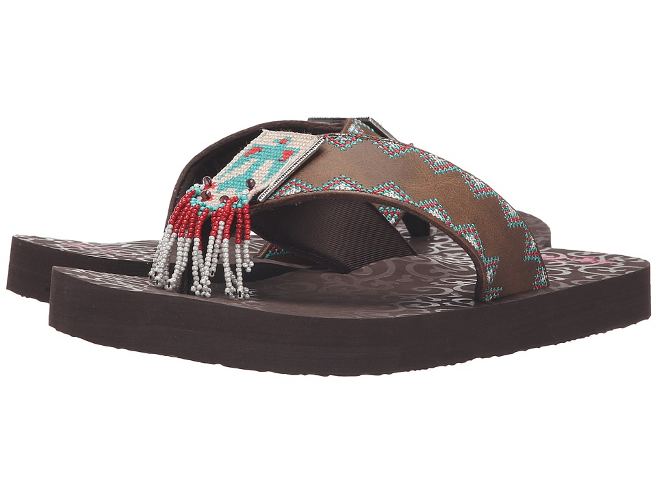 M&F Western - Crystal (Brown) Women's Sandals