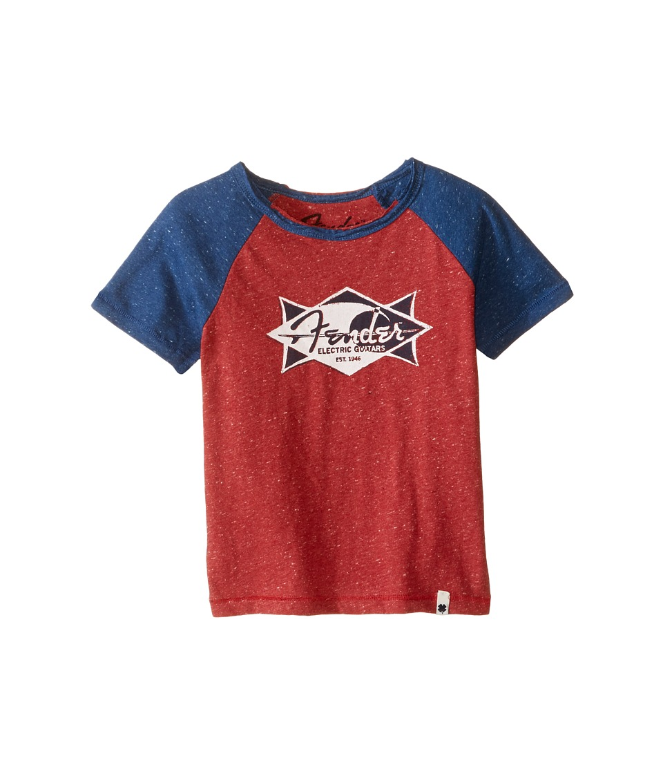 Lucky Brand Kids - Electric Tee (Toddler) (Red Melange) Boy's T Shirt
