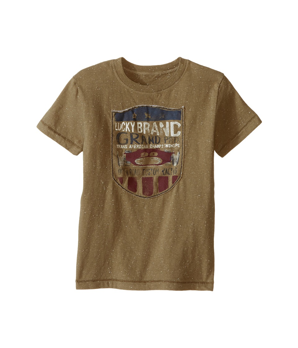 Lucky Brand Kids Champion Tee (Toddler) (Dusty Olive) Boy