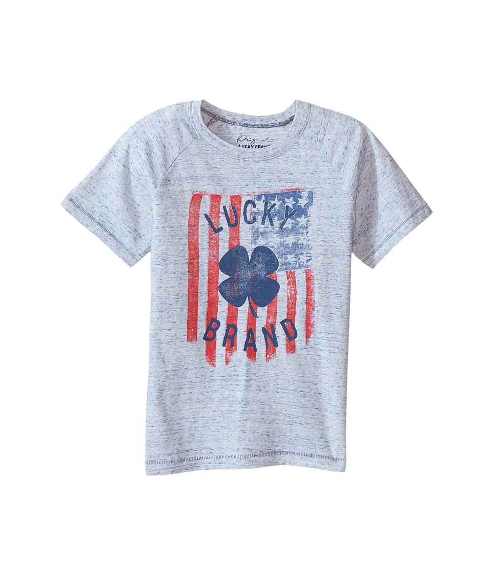 Lucky Brand Kids Flag Tee (Little Kids/Big Kids) (White) Boy
