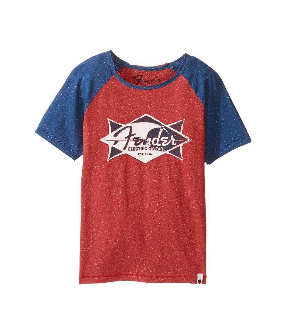 Lucky Brand Kids - Electric Tee (Little Kids/Big Kids) (Red Melange) Boy's T Shirt