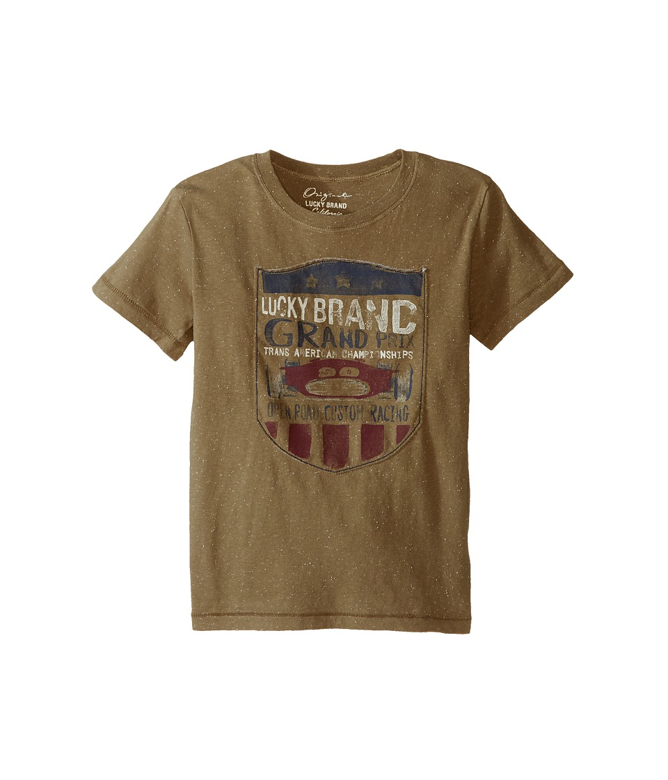 Lucky Brand Kids Champion Tee (Little Kids/Big Kids) (Dusty Olive) Boy