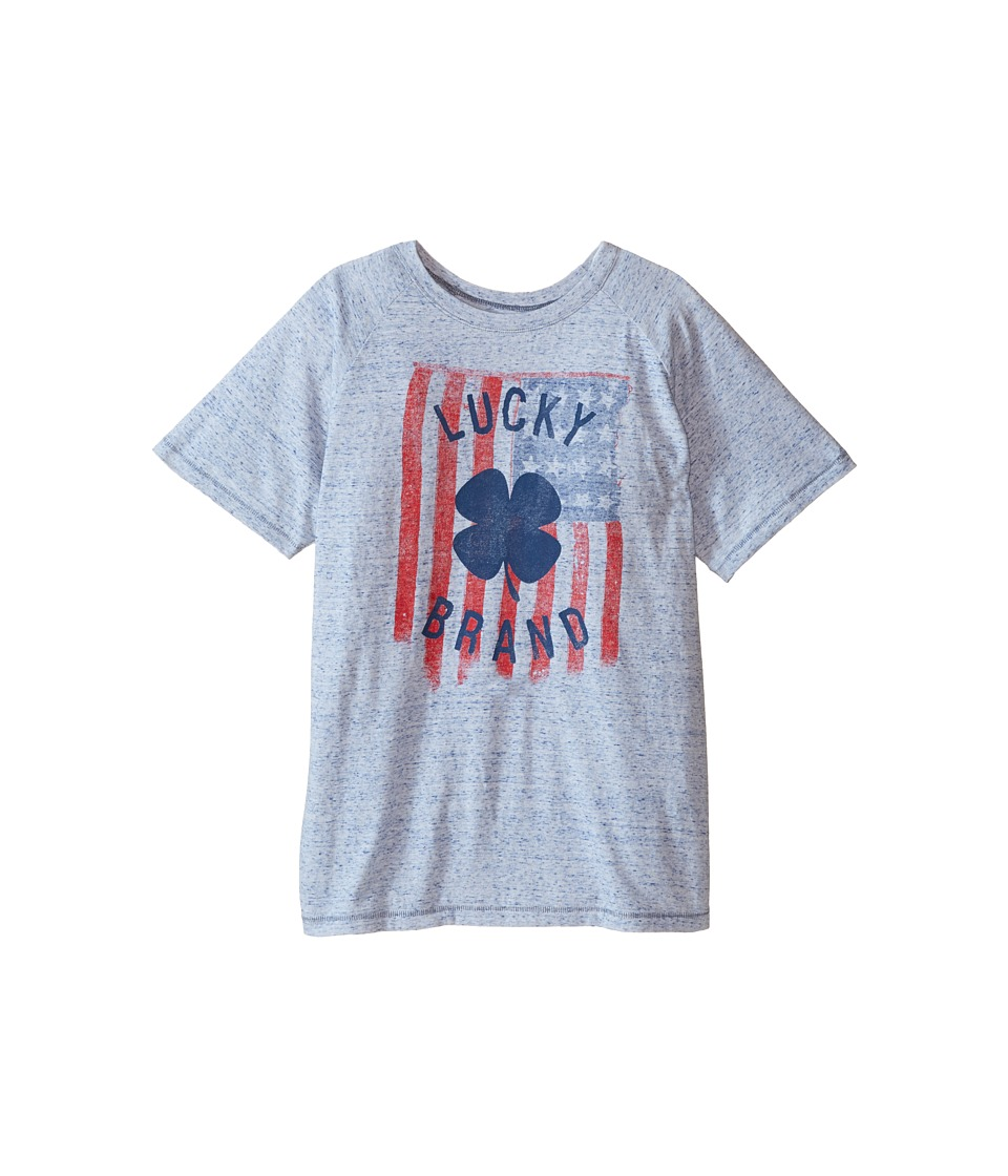 Lucky Brand Kids - Flag Tee (Big Kids) (White) Boy's T Shirt
