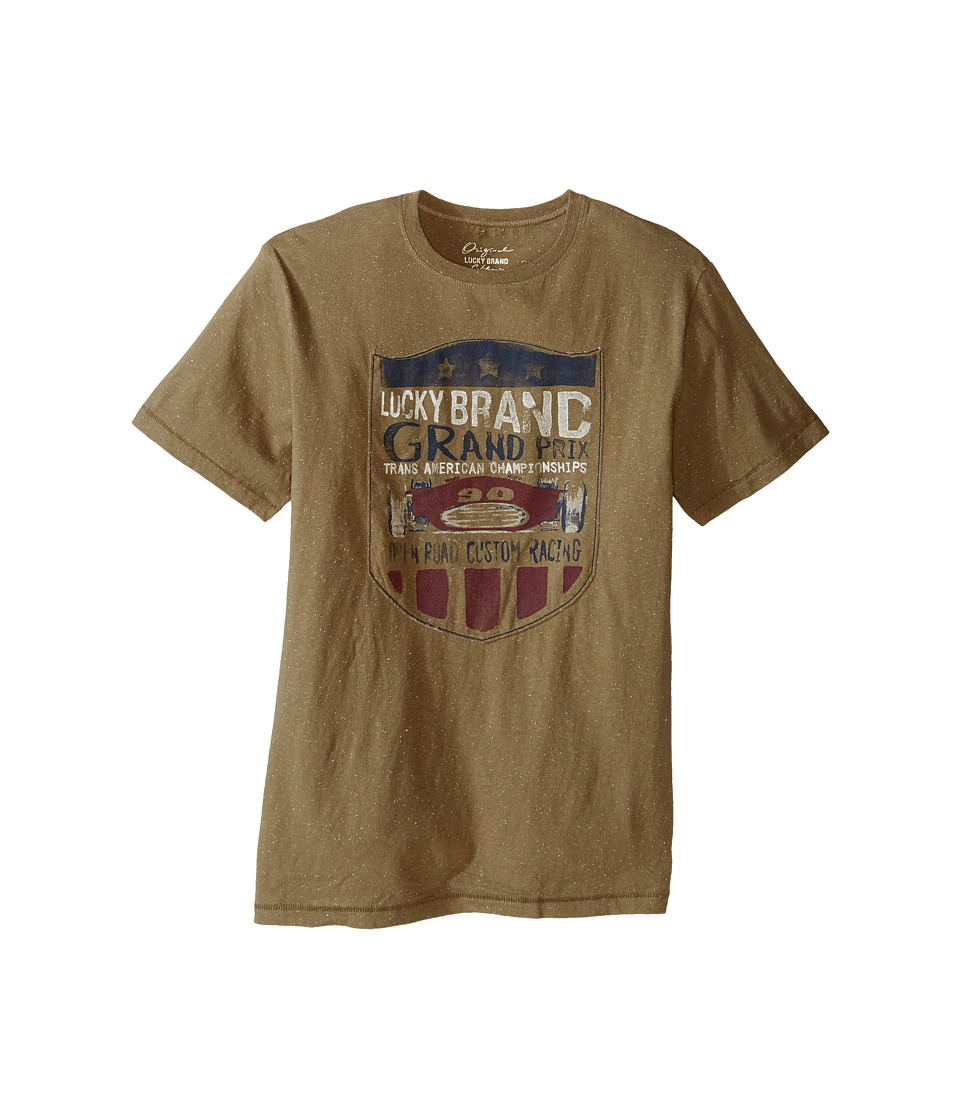 Lucky Brand Kids Champion Tee (Big Kids) (Dusty Olive) Boy