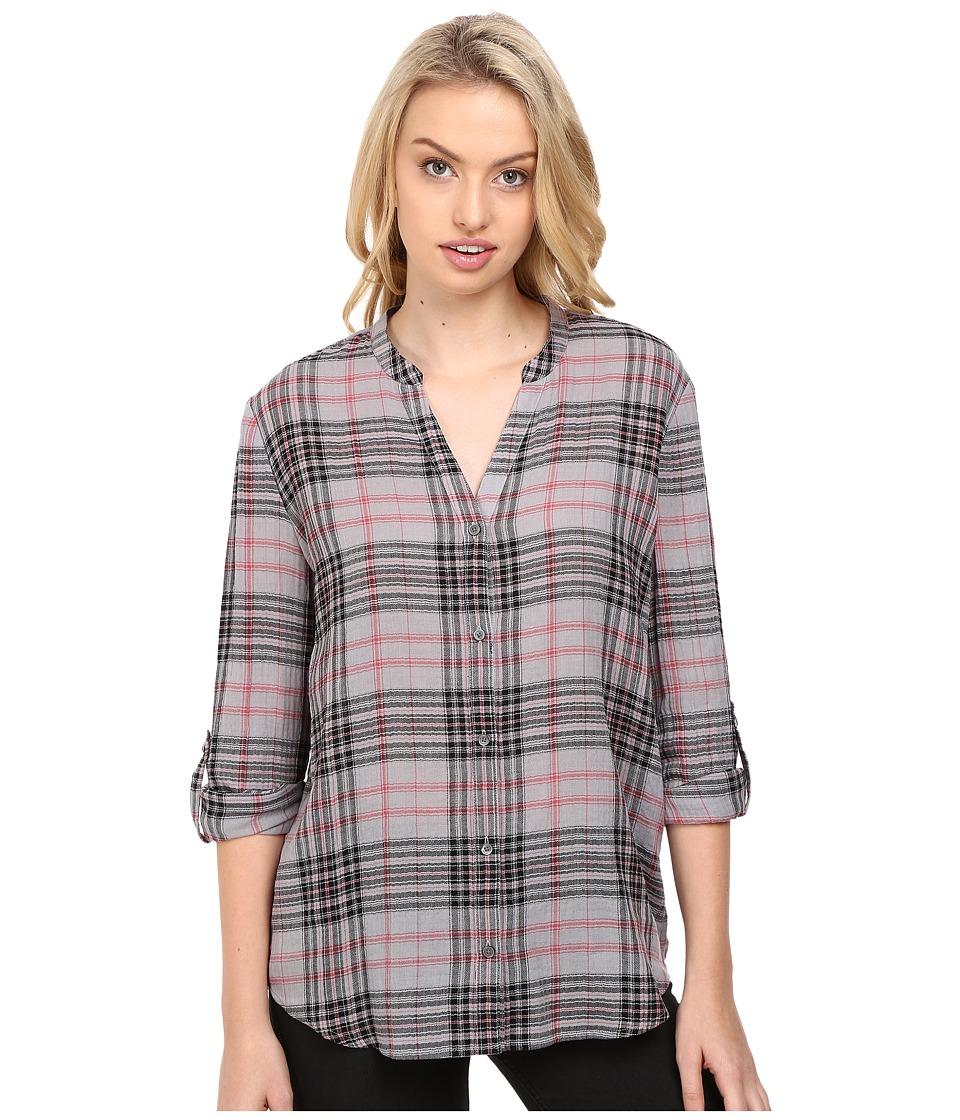 Joie - Dane 5238-27495 (Soft Grey/Caviar) Women's Long Sleeve Button Up