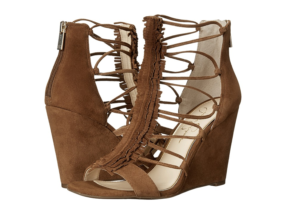 Jessica Simpson - Beccy (Canela Brown Luxe Kid Suede) Women's Shoes