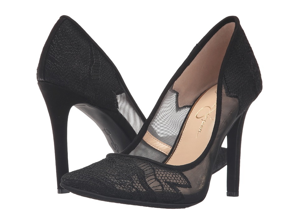 Jessica Simpson - Camba (Sheer Black Fine Mesh Microsuede) High Heels