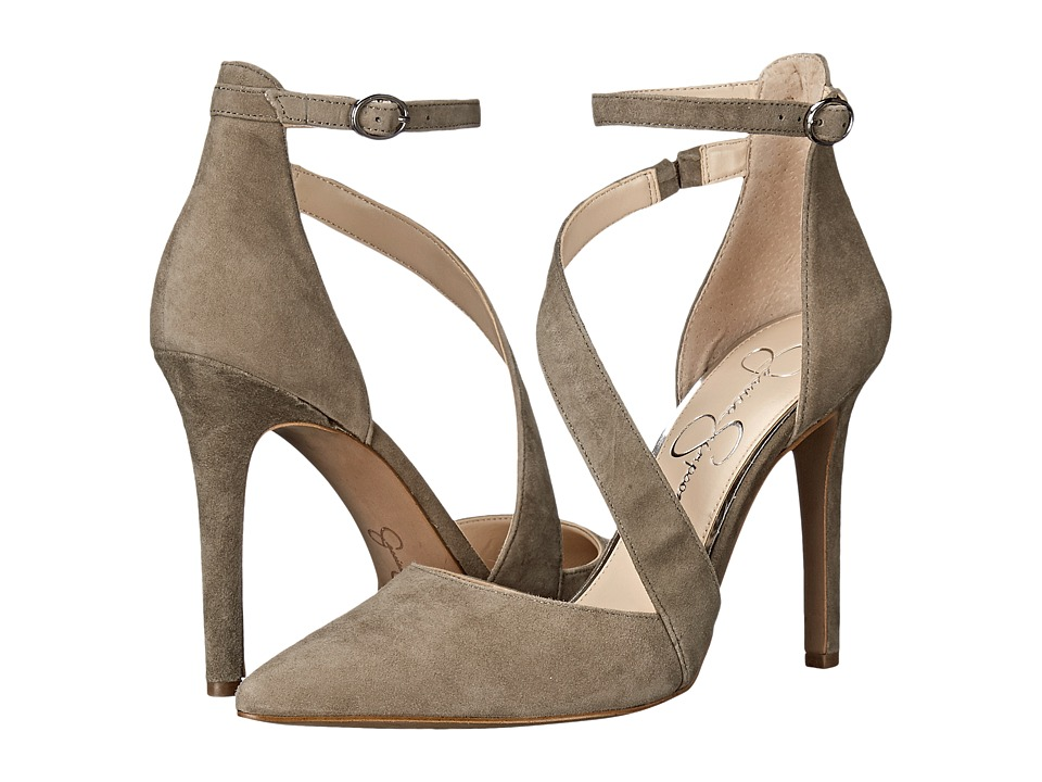 Jessica Simpson - Castana (Olive Taupe Luxe Kid Suede) High Heels
