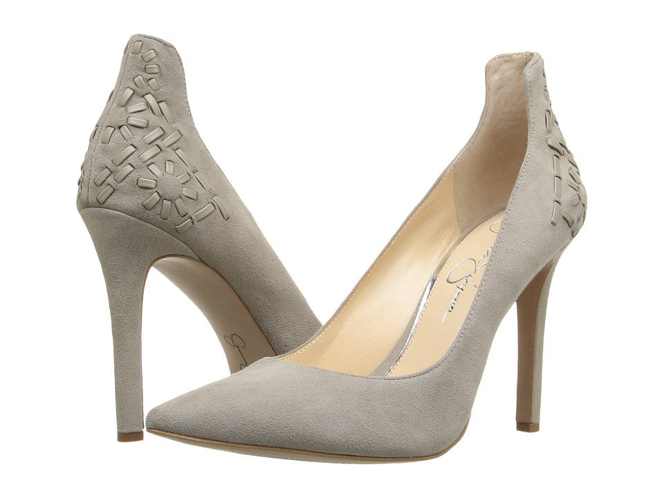 Jessica Simpson - Crampell (Warm Stone Luxe Kid Suede) Women's Shoes