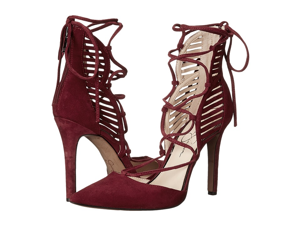 Jessica Simpson - Cynessa (Port Red Luxe Kid Suede) Women's Shoes