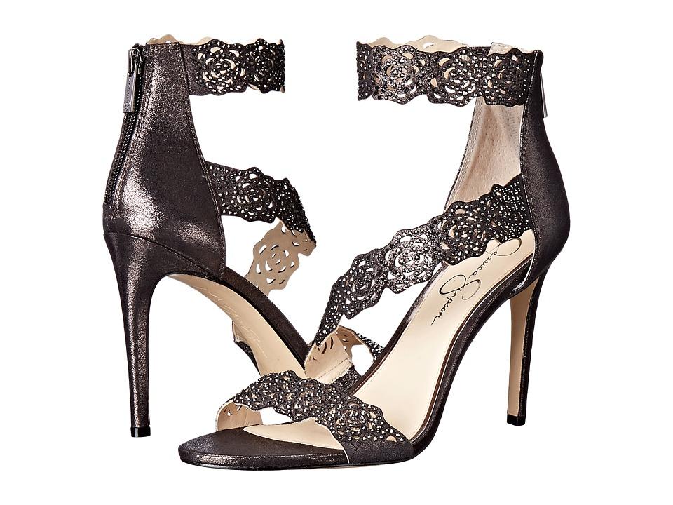 Jessica Simpson - Geela (Black/Gunmetal Dusty Metallic) Women's Shoes