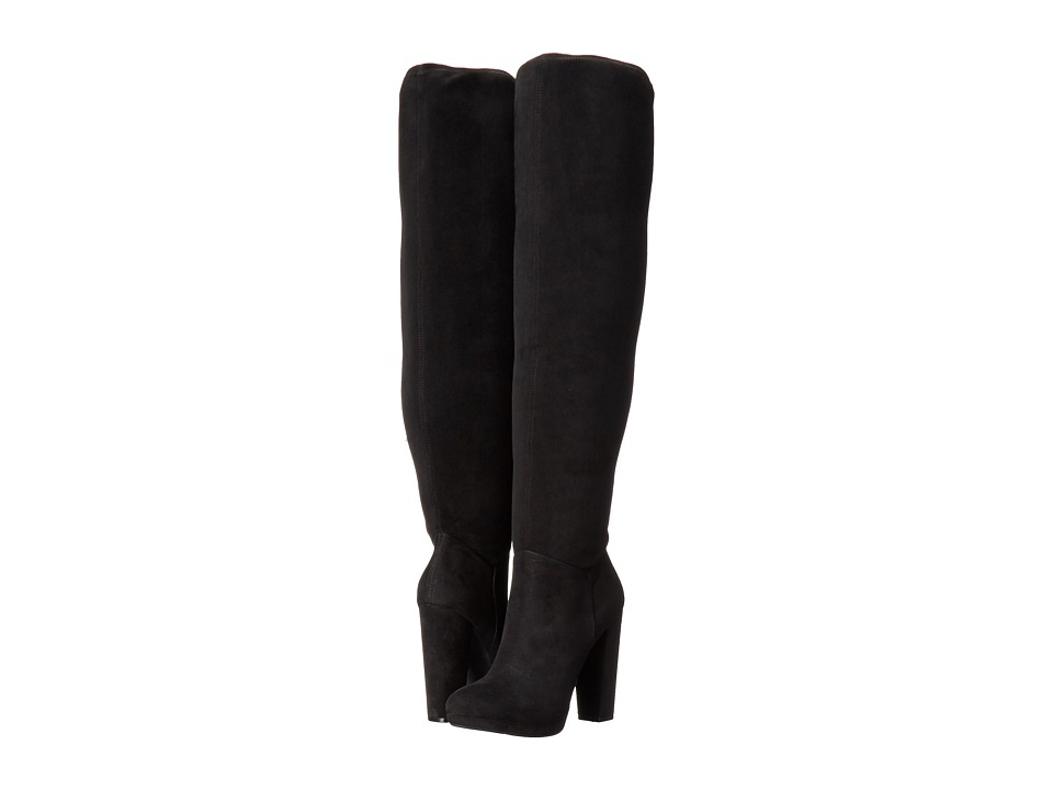 Jessica Simpson Grandie (Black Stretch Microsuede) Women