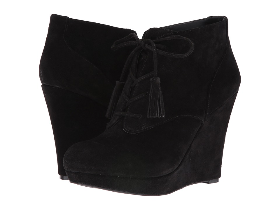 Jessica Simpson Cyntia (Black Split Suede) Women