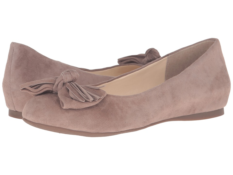 Jessica Simpson Madian Warm Taupe Luxe Kid Suede Womens Shoes