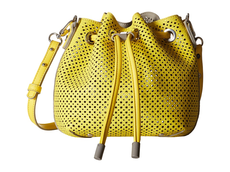Steve Madden - Bjckpot Mini Perf Bucket (Yellow) Cross Body Handbags