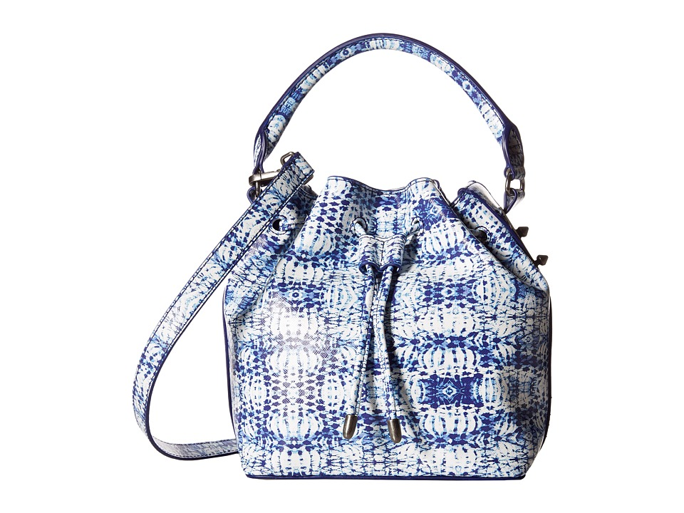 Steve Madden - Breckon Perf Bucket (Blue/White) Tote Handbags