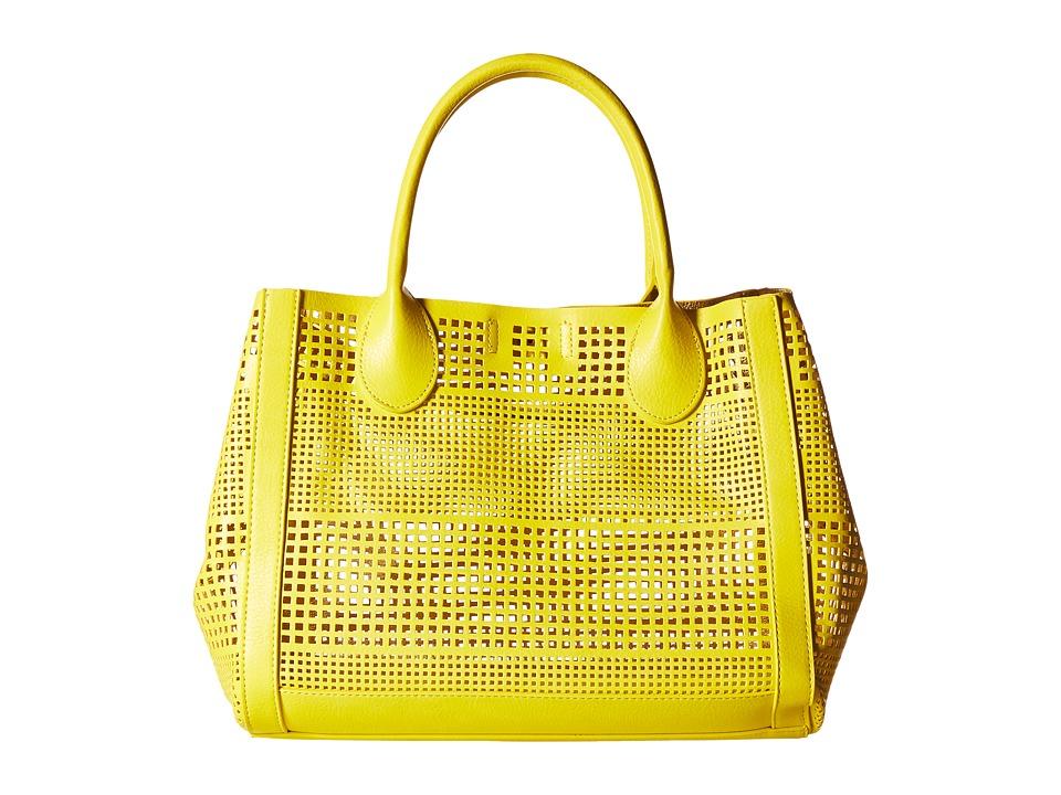 Steve Madden - Bpoppin Perf Bag in Bag Tote (Citron) Tote Handbags