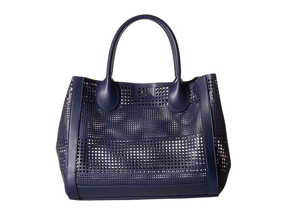 Steve Madden - Bpoppin Perf Bag in Bag Tote (Navy) Tote Handbags