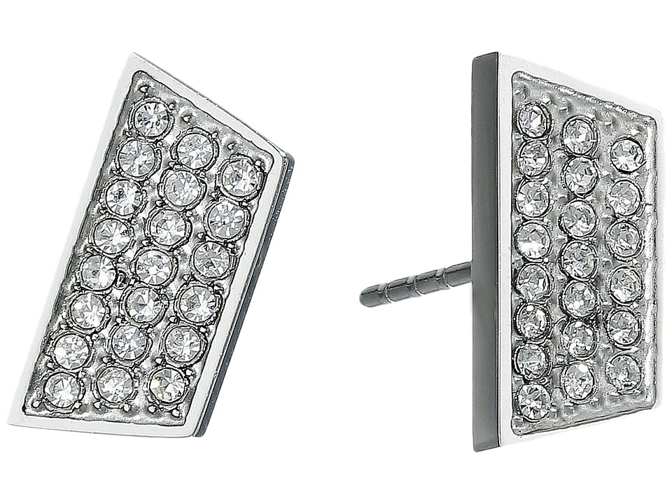 Rebecca Minkoff - Phoenix Pave Stud Earrings (Silver) Earring