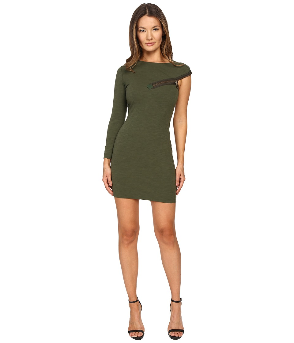 DSQUARED2 - Wool Jersey Dress (Green 2) Women's Dress
