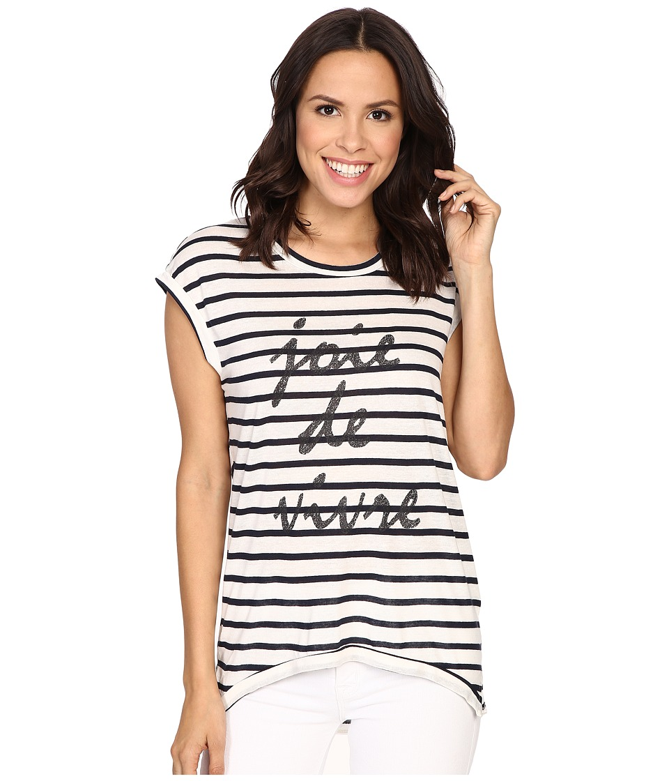 The Beginning Of - Fiona High-Low Tee w/ Joie De (White/Indigo) Women's T Shirt