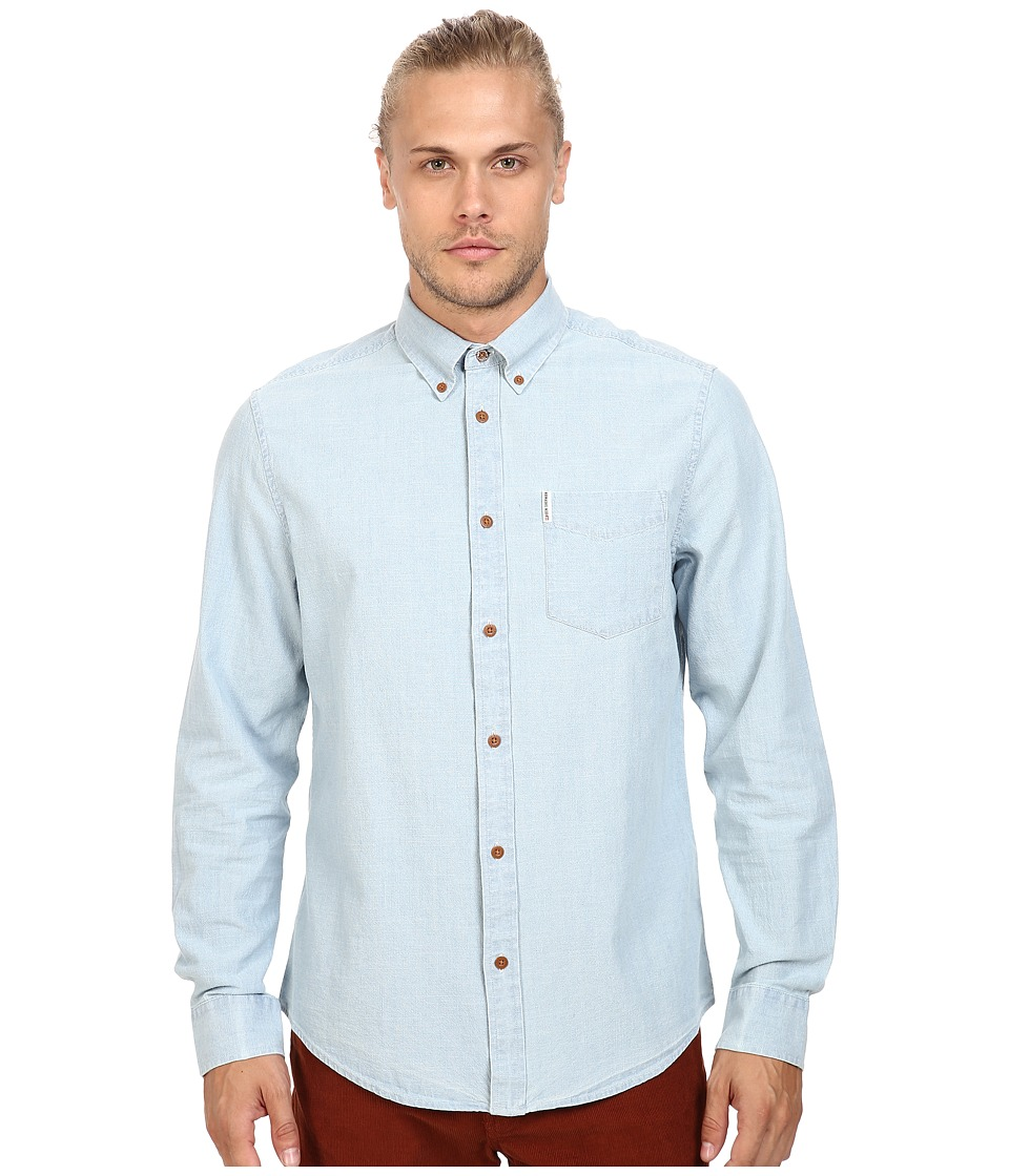 Ben Sherman - Long Sleeve Chambray Woven Shirt (Sky Blue) Men's Long Sleeve Button Up