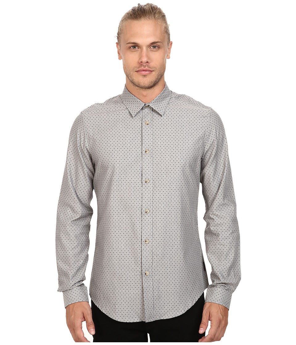 Ben Sherman - Long Sleeve Herringbone Spot Woven Shirt (Hertiage Grey) Men's Long Sleeve Button Up