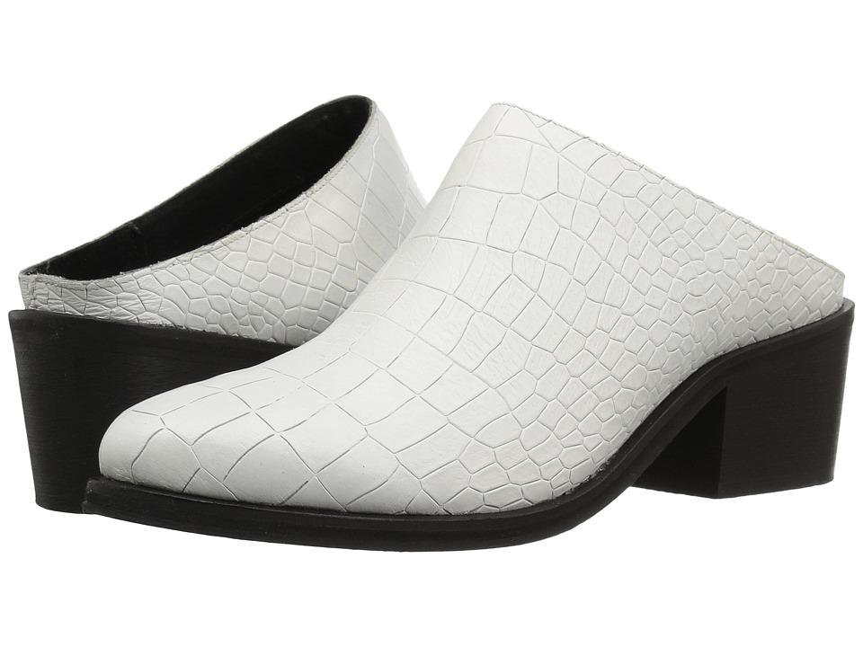Steven - Faleen (White Croco) Women's Clog Shoes