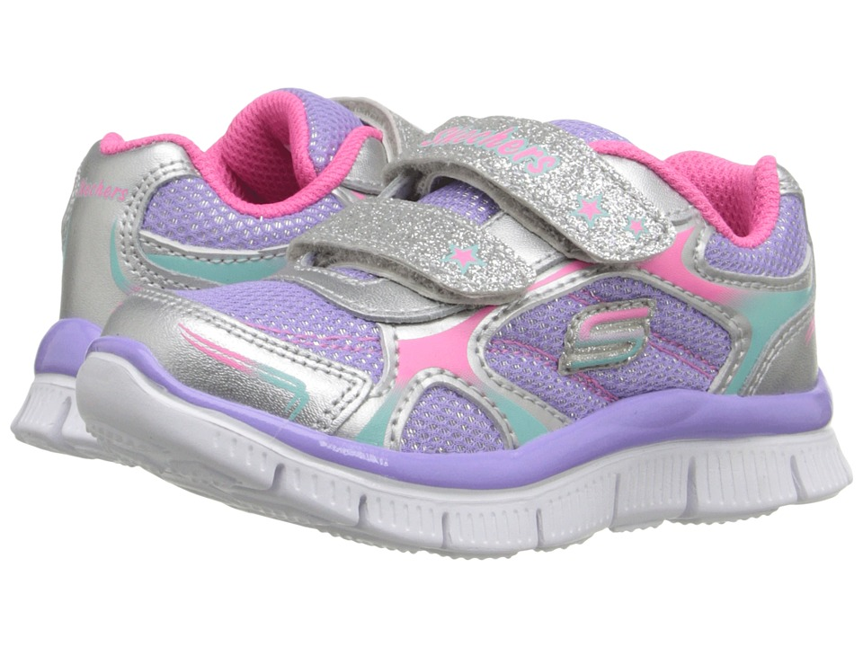 SKECHERS KIDS - Skech Appeal - Sparkle Sprint (Toddler/Little Kid) (Silver/Pink/Purple) Girl's Shoes