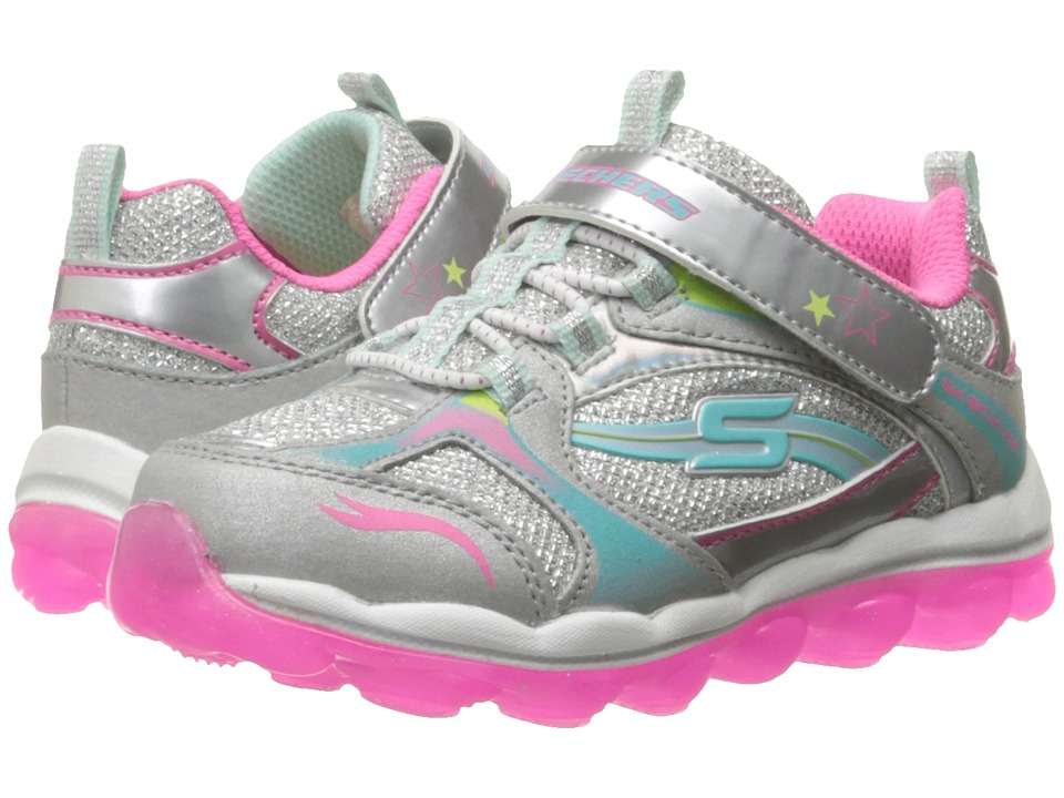 SKECHERS KIDS - Skech Air - Bubble Beatz (Toddler) (Silver/Multi) Girl's Shoes