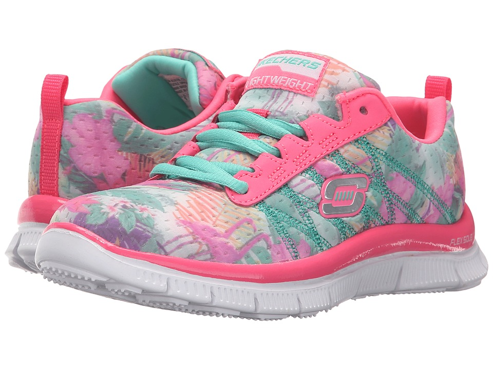 SKECHERS KIDS - Skech Appeal - Floral Bloom (Little Kid/Big Kid) (Pink/Multi) Girl's Shoes