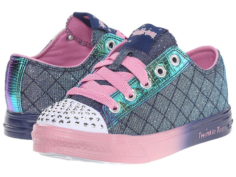 SKECHERS KIDS - Twinkle Breeze - Sparkle Shindigs (Little Kid/Big Kid) (Navy/Pink) Girl