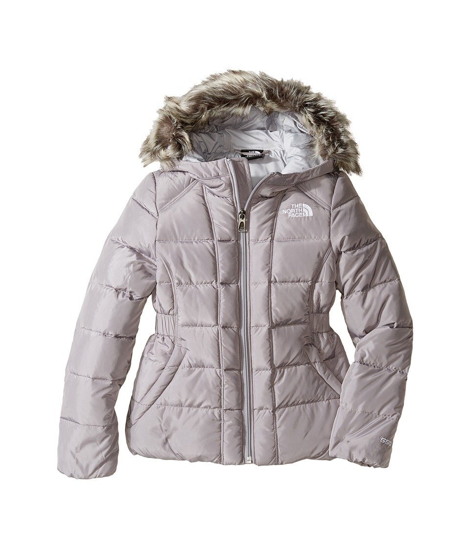 The North Face Kids - Gotham Jacket (Little Kids/Big Kids) (Metallic Silver/High Rise Grey (Prior Season)) Girl's Coat