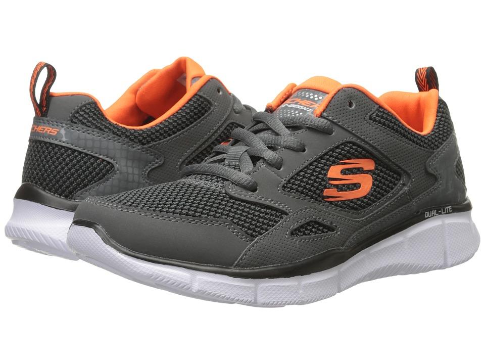 SKECHERS KIDS - Equalizer - Game Point (Little Kid/Big Kid) (Gray/Orange) Boy's Shoes