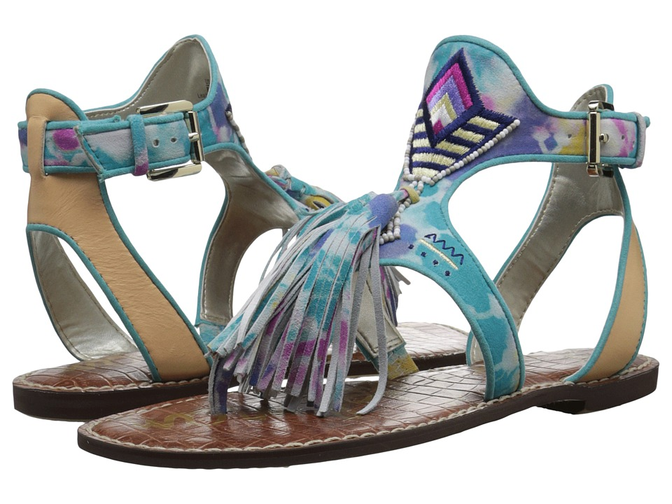 Sam Edelman - Giblin (Turquoise/Natural Tie-Dye Leather) Women's Sandals