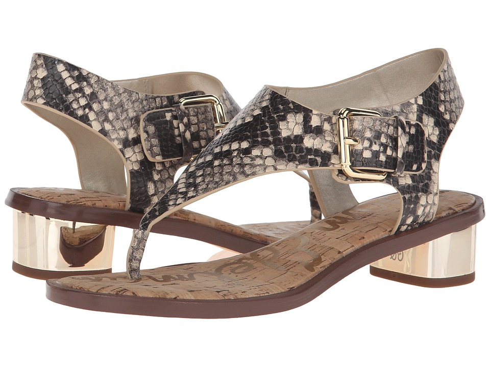 Sam Edelman - Tallulah (Natural Snake Print Leather) Women's Sandals