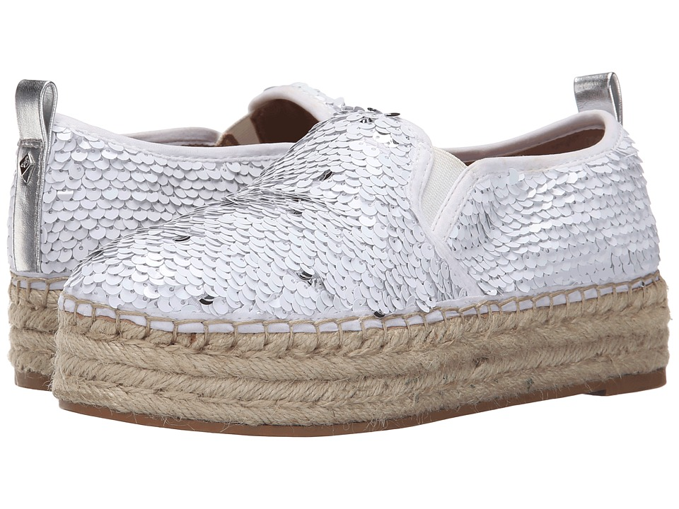 Sam Edelman - Carrin (White/Silver Sequins) Women