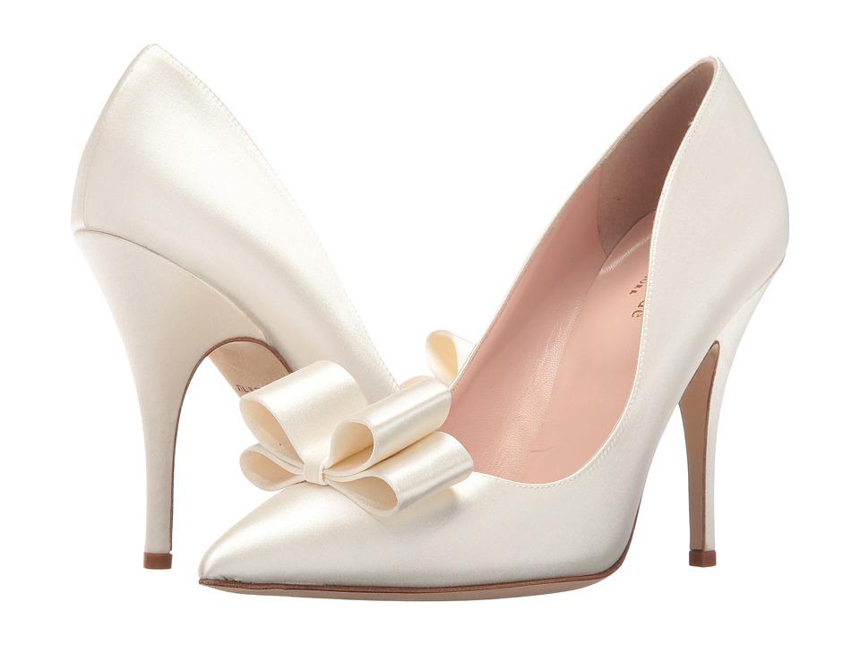 Kate Spade New York - Latrice (Ivory Satin) Women's Slip-on Dress Shoes