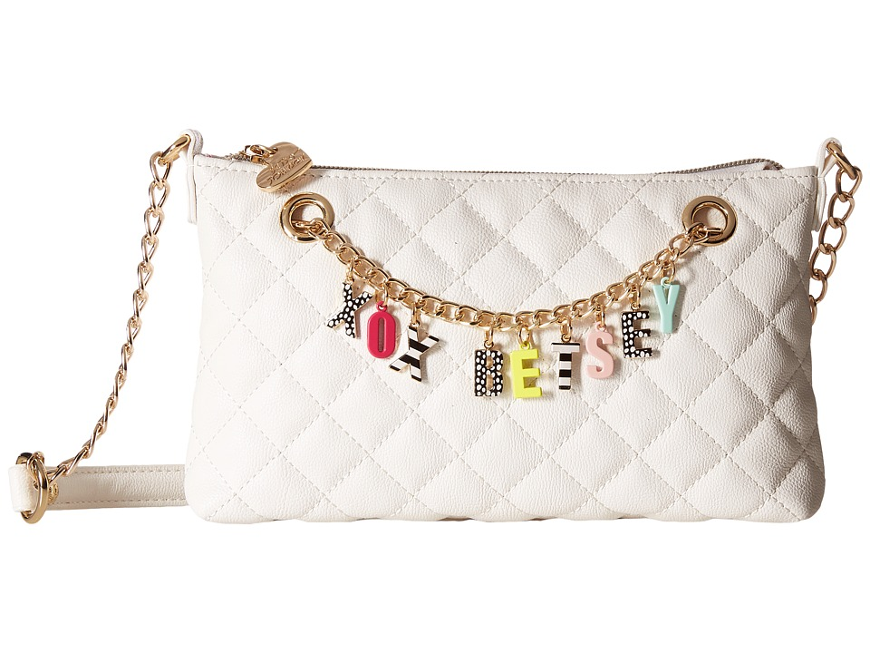 Betsey Johnson - Give Me A B! Crossbody (White) Cross Body Handbags
