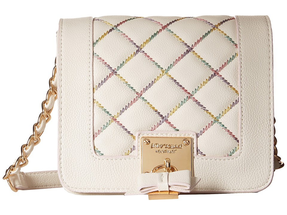 Betsey Johnson - Cotton Candy Crossbody (Cream) Cross Body Handbags