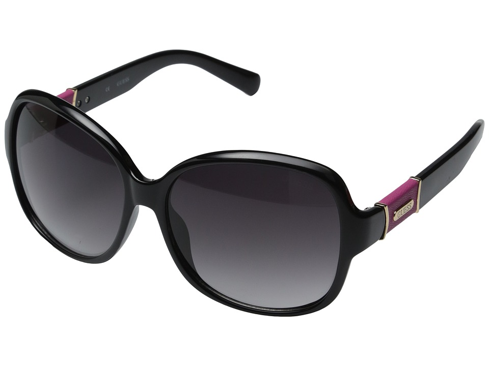 GUESS - GU0237F (Black/Smoke Gradient Lens) Fashion Sunglasses