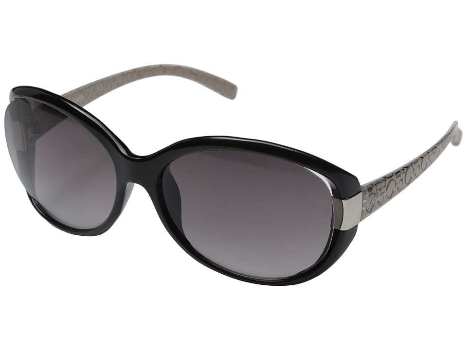 GUESS - GU0214F (Black/Gradient Smoke Lens) Fashion Sunglasses